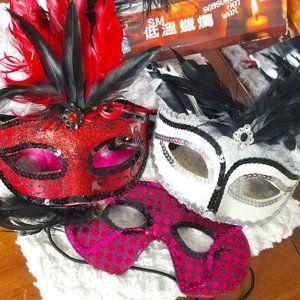 Masquerade masks Bundle 3x